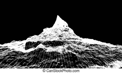 Abstract mountain. Digital landscape Able to loop
