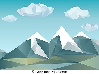 Abstract mountains in polygonal style