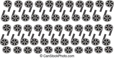 abstract movie background with film