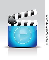 abstract movie icon vector