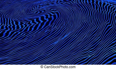 Abstract moving lines in blue