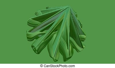Abstract moving object in green color