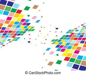 abstract, mozaïek, samenstelling