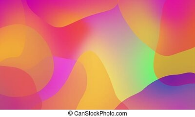 Abstract Multi colored wavy iridescent geometric motion surface Vivid Loop background. Holographic waves motion graphic design Modern Concept art. Covers, poster, presentation, banner, advertisement.
