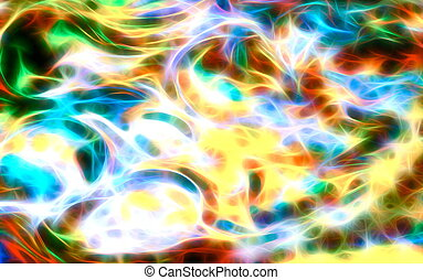 abstract multicolor background and color fractal effect.