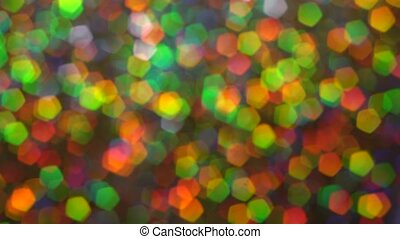 Abstract multicolor glitter blured lights and sparkles