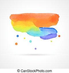 abstract multicolor watercolor cloud
