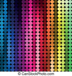 Abstract geometric Multicolored examples round, Vector Drawing