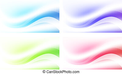 Abstract Multicolored Background Set - Abstract Multicolored...