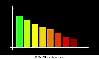 """""""Abstract Multicolored Bar Graph Chart"""""""