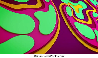 """Abstract multicolored blobs going horizontally"" - ""Arty 3d..."