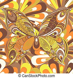 Abstract multicolored butterfly