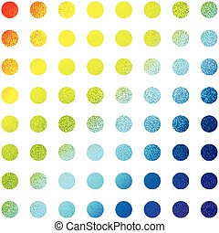 Abstract multicolored circles vector background