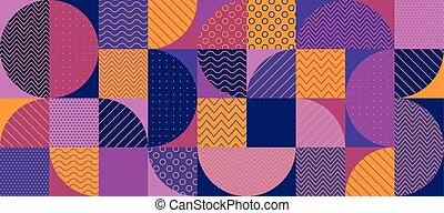 Abstract multicolored geometric pattern. Geometry stock...