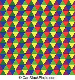Abstract multicolored geometric seamless pattern