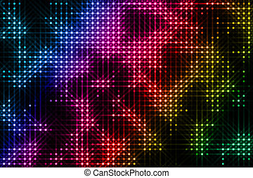 multicolored lights on the black background