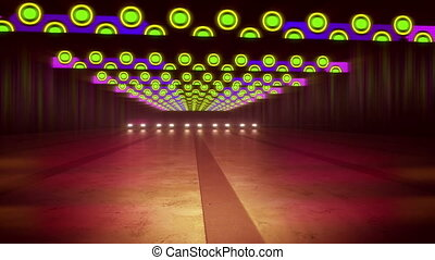 """""""Abstract Multicolored Lines of a Tunnel"""""""