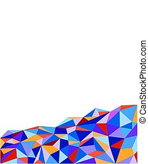 abstract multicolored polygonal background