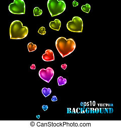 Abstract multicolored Valentine's day background