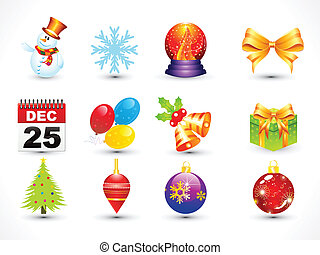 abstract multiple christmas icon