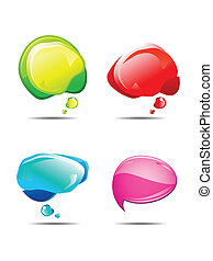 abstract multiple colorful chat balloon vector illustration