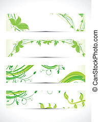 abstract multiple eco banner set
