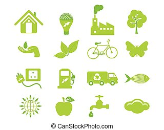 abstract multiple eco icon