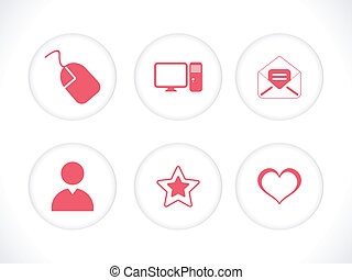abstract multiple icon set vector