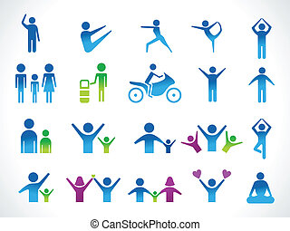 abstract multiple people icon vector illustration