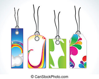 abstract multiple sale tag