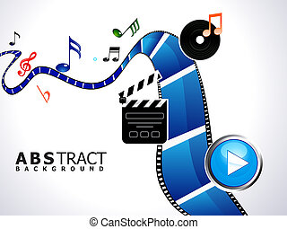 abstract multiple video background vector illustration