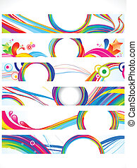 abstract multiple web banners