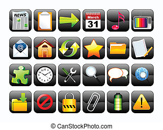 abstract multiple web icon button s