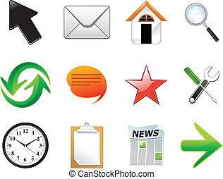 abstract multiple web icon set