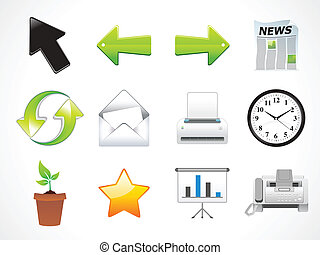 abstract multiple web icons set