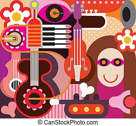 Abstract Music Art