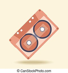 Abstract music audio cassette