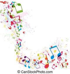 Abstract music background, vector