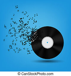 Abstract music background vector illustration for your ...
