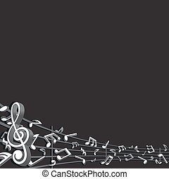 Abstract Music Background. Vector Graphics with Free Space for Your Text or Image.