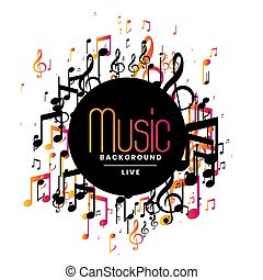 abstract music background with musical notes design