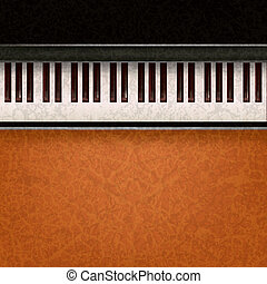 abstract music background with piano