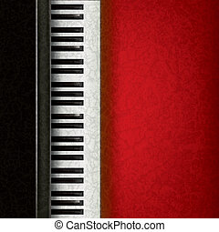 abstract music background with piano - abstract music grunge...