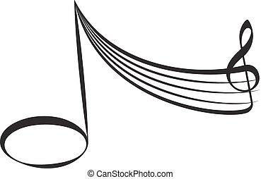 abstract music design element