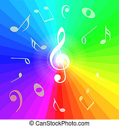 Abstract Music Notes Background. Vector