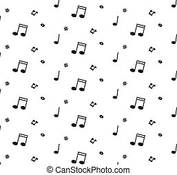 Abstract music pattern background vector illustration for your design