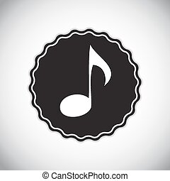 Abstract Music Sign Vector Illustration for Your Design