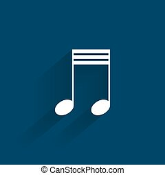 Abstract Music symbol
