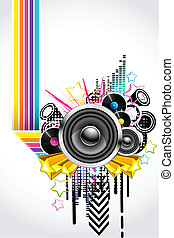 Abstract Musical Background - illustration of abstract...