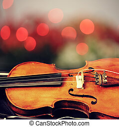 abstract musical background is the violin toned photo retro...